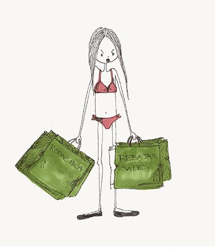 Ilustración de las rebaja de Bárbara Ruiz Acosta para Ropachica